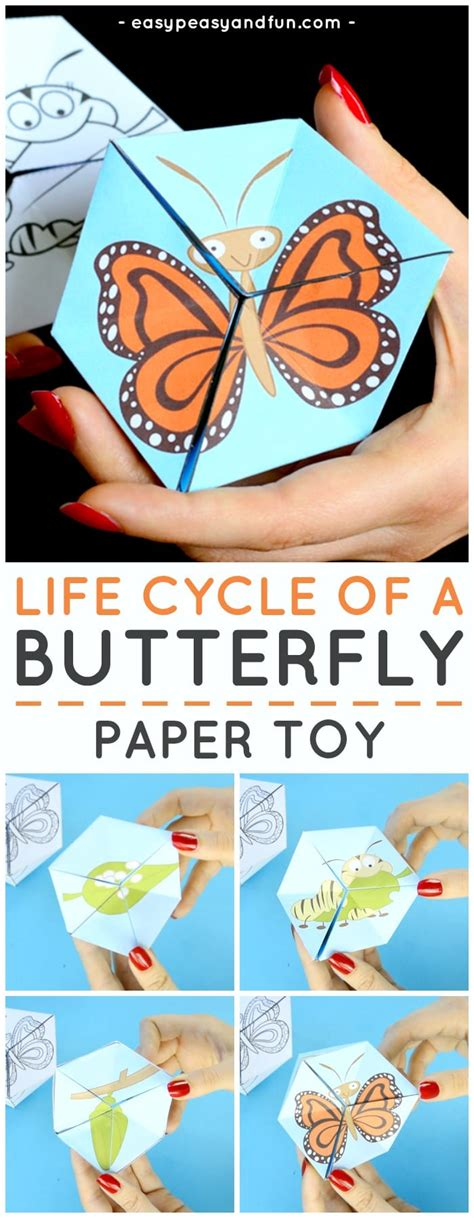 How To Make A Paper Cycle - butterfly cycle paper craft flextangle template