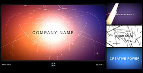 company intro flash intro website template best website