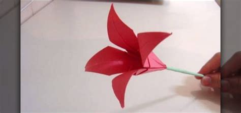 How To Make A Paper Lilly - how to make an origami flower 171 origami wonderhowto