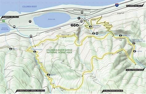 multnomah falls trail map 30 favorite hikes near portland outdoor project