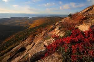 Cadillac Mountain Acadia National Park Cadillac Mountain At Acadia National Park By