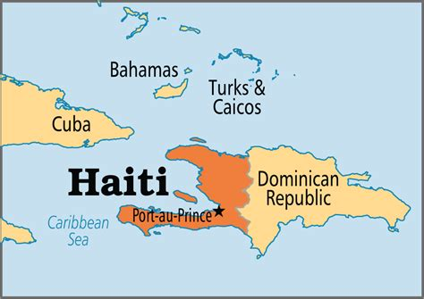 haiti map of world haiti operation world