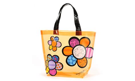 Pvc Tote Bag britto transparent pvc tote bag flowers artreco