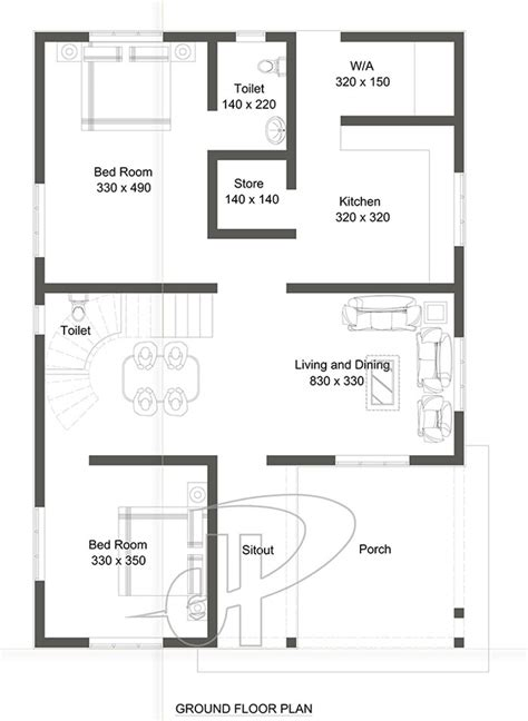 two bedroom home 95 sq m two bedroom home design house plans