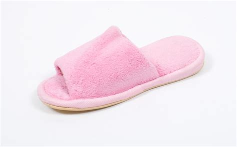 the slipper and the open toe terry slippers with memory foam nature s sleep