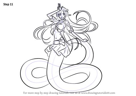 Learn How to Draw Miia from Monster Musume (Monster Musume