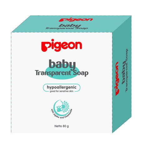 Sisir Bayi Pigeon pigeon baby transparent soap chamomile 80 gr with