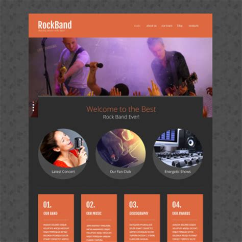 Music Band Templates Templatemonster Rock Band Web Template
