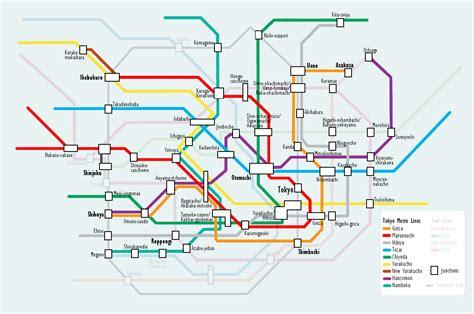 metro map tokyo subway map free printable maps
