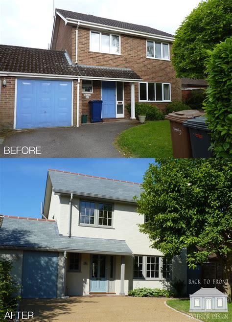 exterior makeover    house  farnham surrey