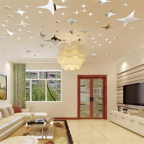 ceiling stickers 43pcs sky mirror ceiling wall stickers room