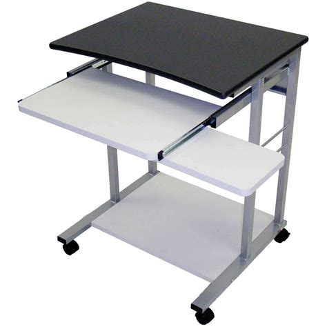 mobile computer desk for luxor mobile computer workstation charcoal lct29 c b h photo