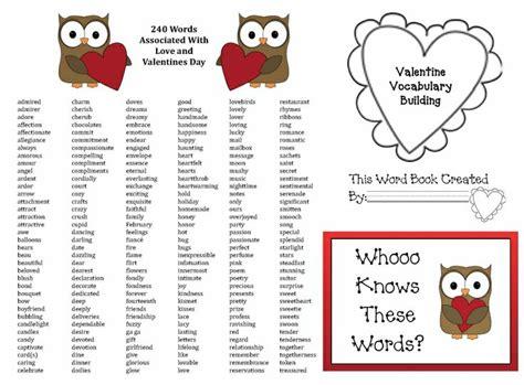 words for valentines vocabulary words vocabulary builder