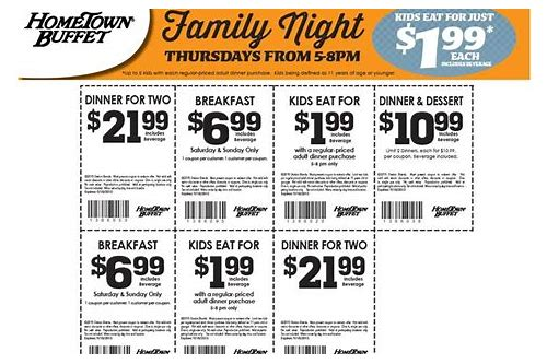 coupons de hometown buffet