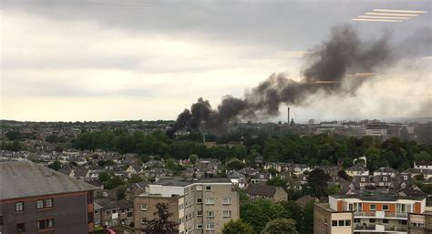huge fire  disused edinburgh hospital