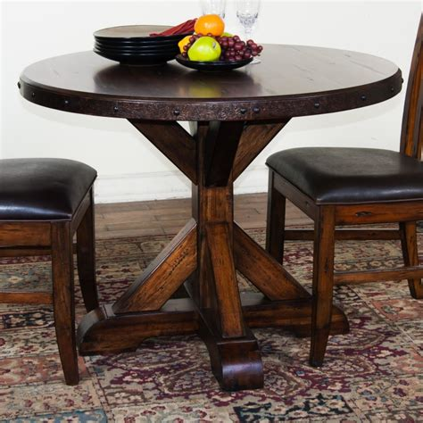 rustic dining tables and chairs pallet textured rustic dining room table with metal