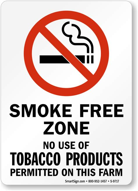 no smoking sign use use of tobacco products not permitted on this farm sign