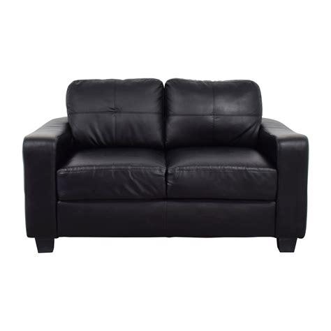 bonded leather loveseat 79 off black bonded leather loveseat sofas
