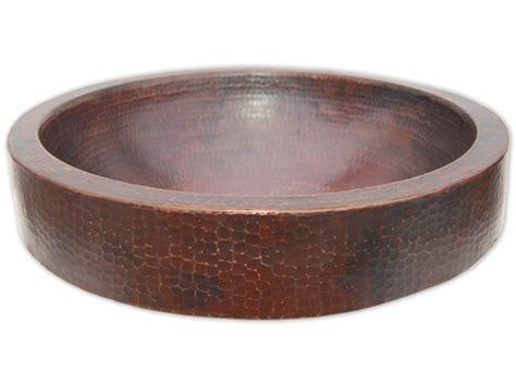 copper vessel sinks bathroom eden bath semi recessed copper vessel sink with apron antique dark eb c009ad