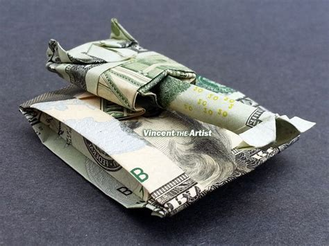 Origami Army Tank - 20 bill tank money origami dollar bill