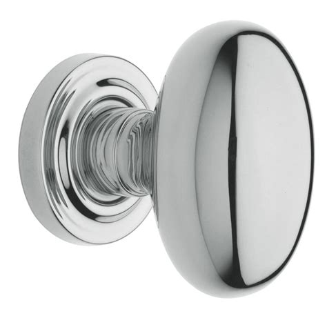 lowes interior door knobs shop baldwin estate egg polished chrome egg passage door