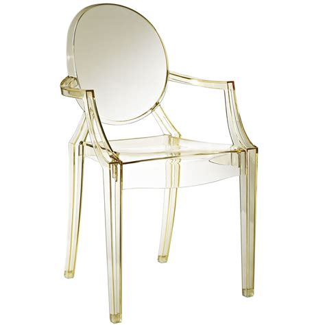 Philippe Starck Ghost Chair by Philippe Starck Style Louis Ghost Arm Chair
