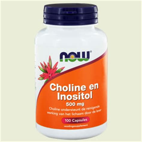 Inositol And Choline For Liver Detox by Choline Inositol 500mg 100 Capsules Now Vitaminedesk