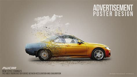 car advertisement a car advertisement poster manipulation concept in