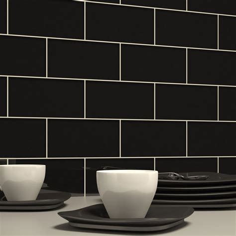 black subway tile glass subway tile black 3 quot x 6 quot subway tile