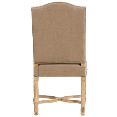 white country dining chairs upholstered monaco country brown white upholstered dining chair pair