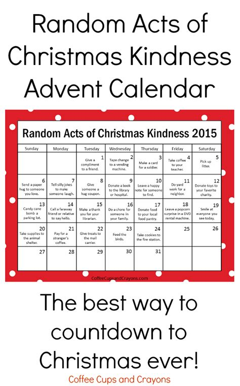 printable countdown to christmas advent calendar kindness is the best way to countdown to christmas