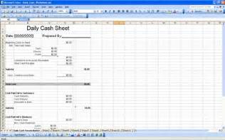 Cash Position Report Template Cash Register Daily Reconciliation Sheet Templates Share