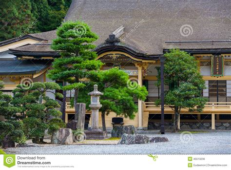 traditional japanese house with garden stock photo image