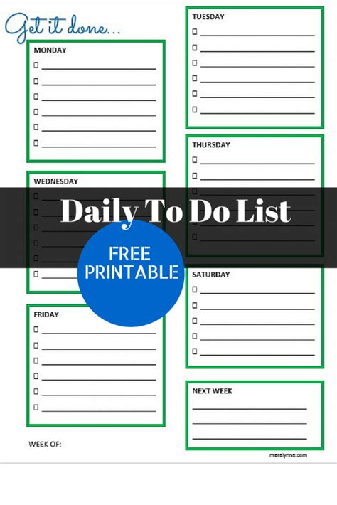 daily to do list template get it done daily to do list and free printable