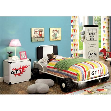 race car bedroom furniture furniture of america ramirez race car bedroom set in white ebay