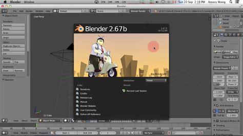 Tutorial Blender Mac | mac blender 2 67 navigation lesson youtube