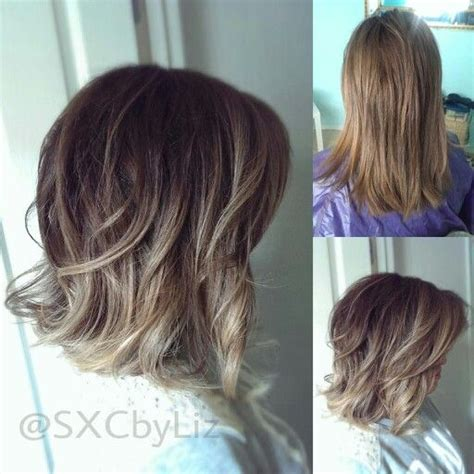 ombre balayage color melt blonde highlights long bob beautiful long bob with balayage highlights ombre