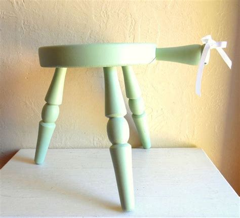 Stool Is Light Green by Light Green Three Legged Wooden Stool With Handle Wood 3