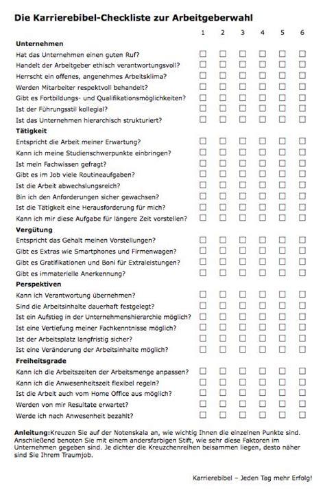 Bewerbungsgesprach Fragen Katalog Arbeitgeberwahl Checkliste Checklists