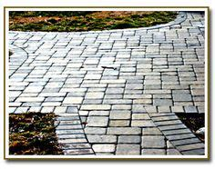 custom brick pavers landscaping grey