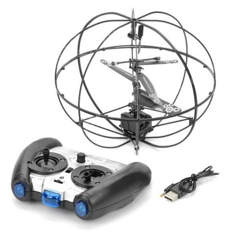 Rc Helicopter Bola Terbang Remote Tangan 3 channel ufo style flying helicopter with gyro 8 meters remote distance