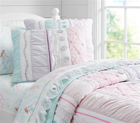 pottery barn girls bedding bailey ruffle quilted bedding pottery barn kids