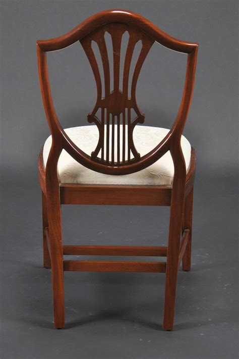 Mahogany Dining Room Chairs Small Vintage Size Shield Back Dining Room Chairs Solid Mahogany