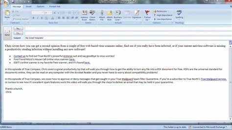 create email template outlook 2007 image gallery outlook email exle