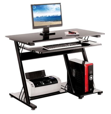 computer table home office furniture pc desk black new ebay computer desk pc table office furniture black glass