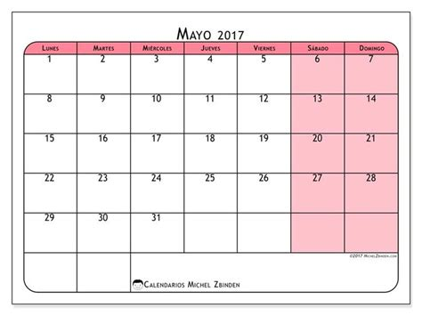 calendario 2017 para imprimir gratis gratis calendarios para mayo 2017 para imprimir espa 241 a