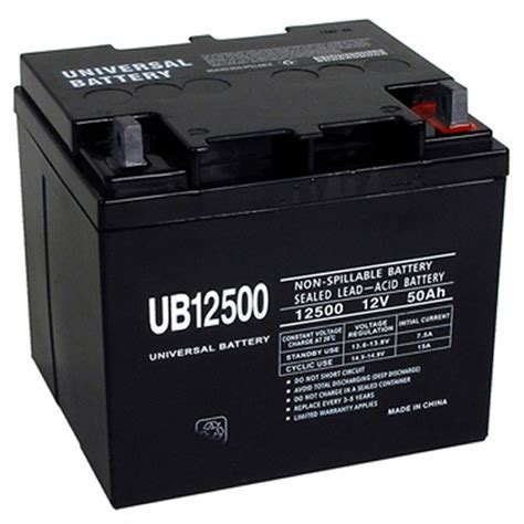 Power Chair Batteries by 12 Volt 50 Ah Ub12500 Wheelchair Mobility Powerchair