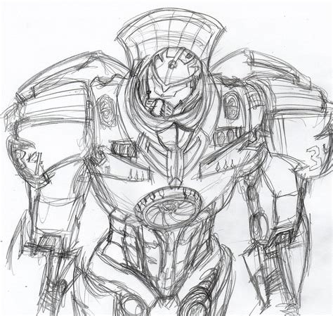 the gallery for gt pacific rim jaeger gypsy danger drawing