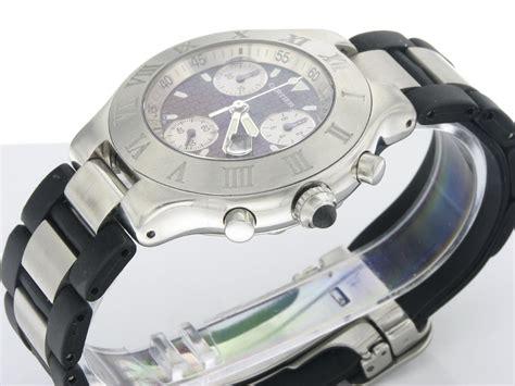 cartier sport 21 chronoscaph s chronograph black