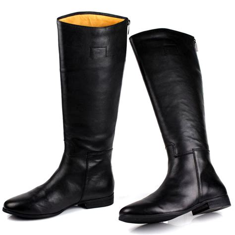 mens motorcycle boots fashion 2015 high quality black winter boots brand mens genuine